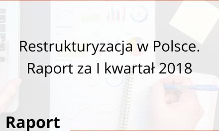 Restrukturyzacja w Polsce. Raport za I kwartał 2018