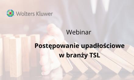 """Webinar """"Postępowanie upadłościowe w branży TSL"""""""